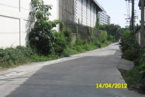 ถนนทางเข้าที่ดิน หน้ากว้าง 6 เมตร