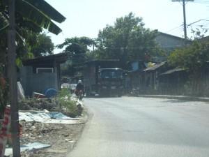 สภาพถนนหน้าแปลงที่ดิน
