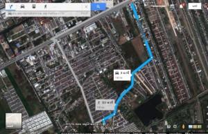 แผนที่ และ เส้นทางการเข้าแปลงที่ดิน